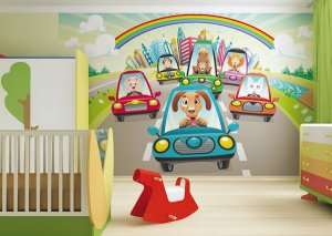 Fotomurales infantiles coches