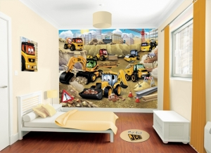 Fotomural Infantil Excavadoras