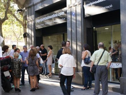 inauguracion papel pintado online barcelona
