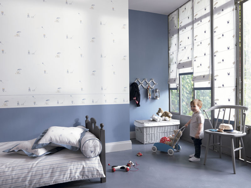 Como decorar la habitaci n de los ni os papel pintado for Papel para habitacion