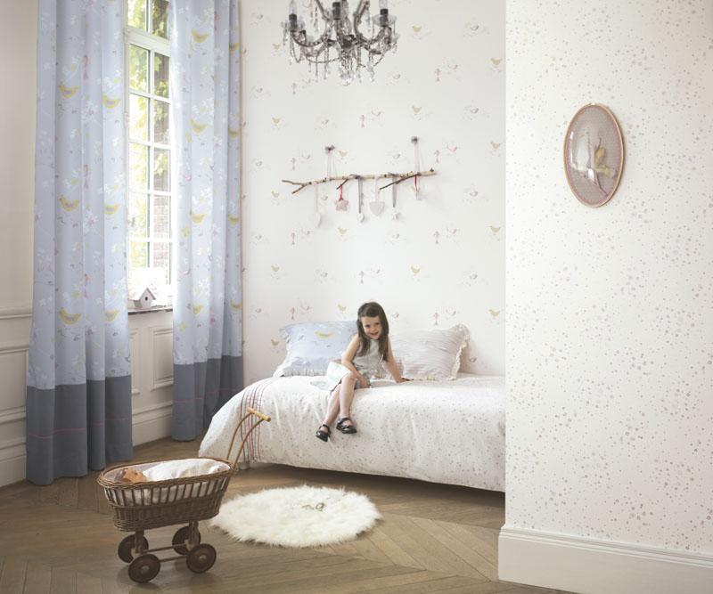 Papel pintado infantil douce nuit barcelona papel - Papel habitacion infantil ...