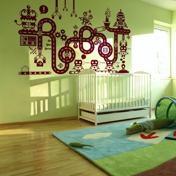 Vinilos decorativos infantiles papel pintado barcelona - Papel decorativo infantil ...