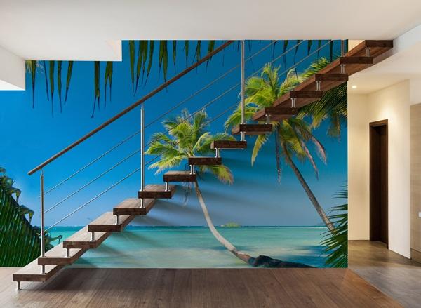 Fotomurales playas a medida papel pintado barcelona for Murales decorativos paisajes