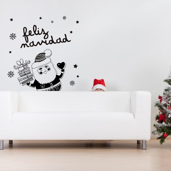 Vinilos decorativos navidad papel pintado barcelona for Vinilos pared barcelona