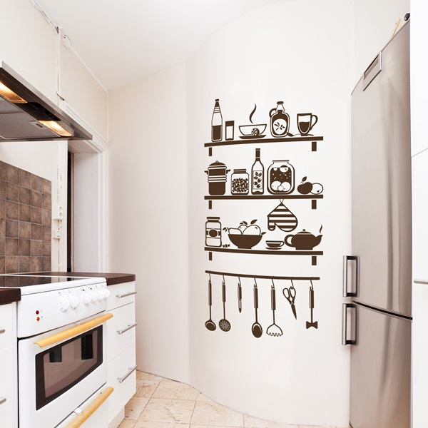 Vinilo decorativo cocina co025 papel pintado barcelona - Papeles vinilicos para pared ...