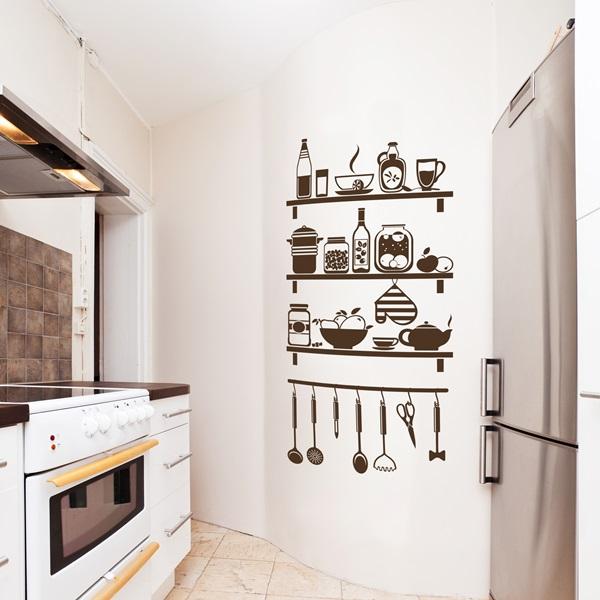 Vinilo decorativo cocina co025 papel pintado barcelona for Vinilos pared cocina