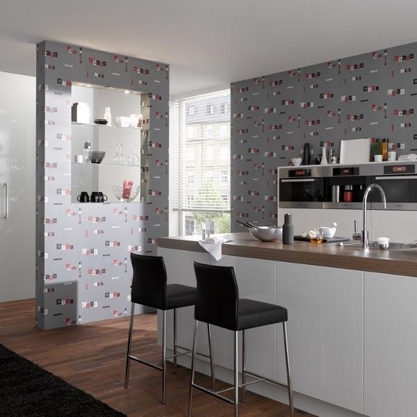 Comprar papel pintado para cocina en barcelona papel for Cocinas y banos casa viva