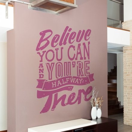 Frase en vinilo decorativo TE011