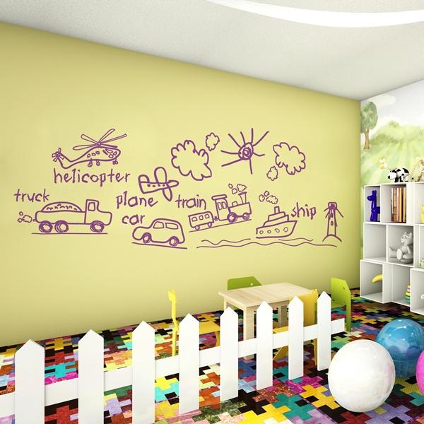 Vinilos decorativos infantiles papel pintado barcelona for Papel decorativo para habitaciones