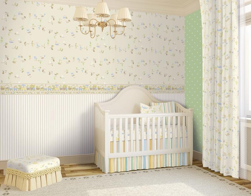 Papel pared papel pintado percy crema decorar con - Papel para paredes con gotele ...
