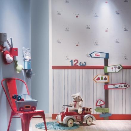 Papel Pintado Babies de ratoncitos 10128 y rayas 10144