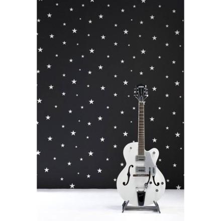 Papel Pintado Estrellas Blancas Pequeñas Fondo Negro Vibe 4995-5