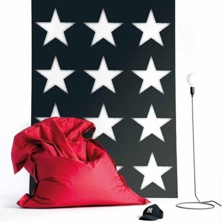 Papel Pintado Estrellas Blancas Fondo Negro Vibe 4996-3