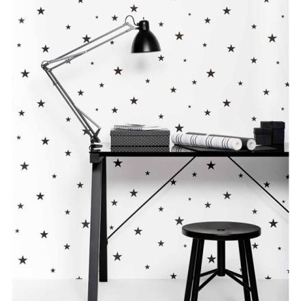 Papel Pintado Estrellas Negras Pequeñas Vibe 4995-1