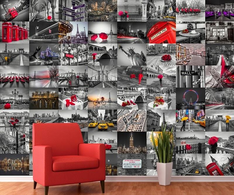 Fotomural ciudades papel pintado barcelona for Papel pintado ciudades