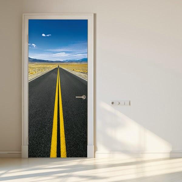 Fotomural playa para puerta papel pintado barcelona - Papel para puertas ...