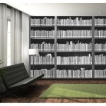 Fotomural bookshelf 004