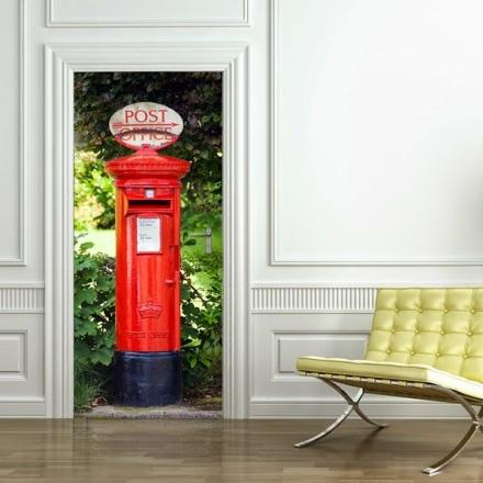 Fotomural Puerta Buzón Rojo ref. 550 Postbox