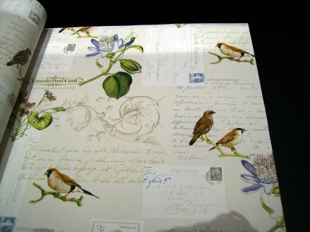 Papel Pintado Dekora Natur pajaritos tipografico
