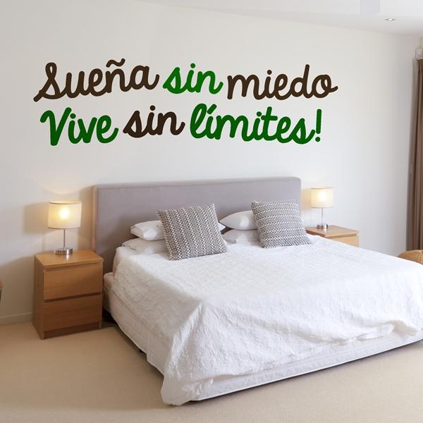 Comprar vinilos de textos papel pintado barcelona - Frases para paredes habitaciones ...