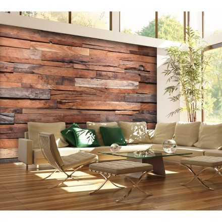 Fotomurales Wooden Wall 150