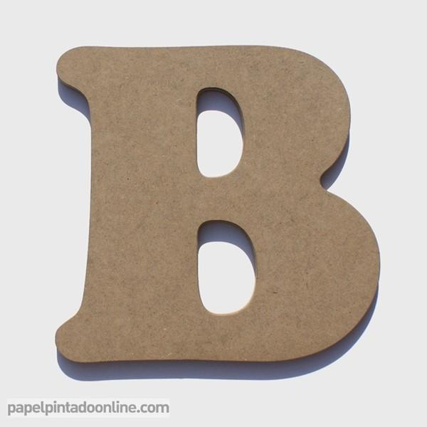 Letra de Madera B 20cm