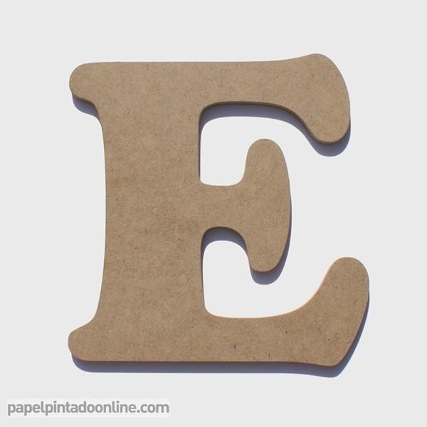 Letra de Madera E 20cm