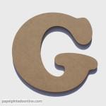 Letra de Madera G 20cm