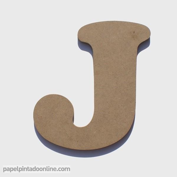 Letra de Madera J 20cm