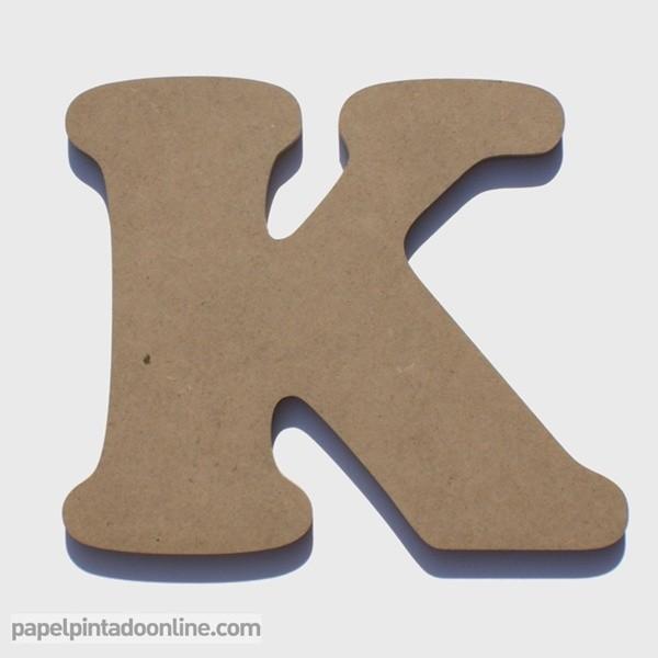 Letra de Madera K 20cm