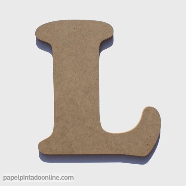 Letra de Madera L 20cm