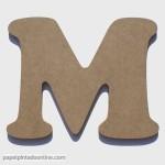 Letra de Madera M 20cm