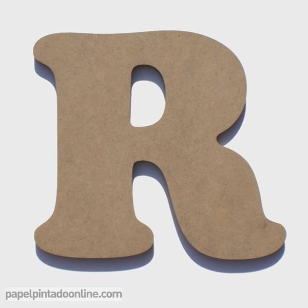 Letra de Madera R 20cm