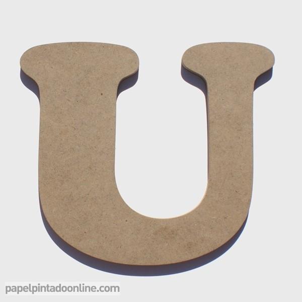 Letra de Madera U 20cm