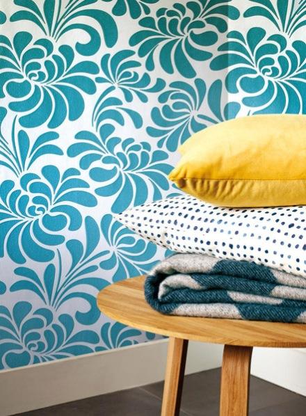Papel Decorativo Grandeco Azul