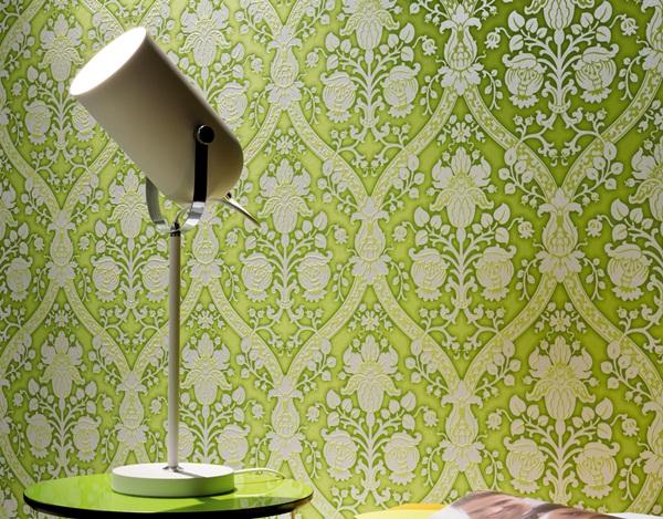 Papel pintado flock 4 papel pintado barcelona for Papel pintado verde