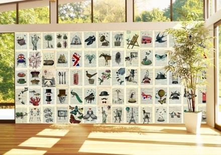 Decorar con páginas de periodicos con animales ciudades plantas y objetos C64P-PAGES-001
