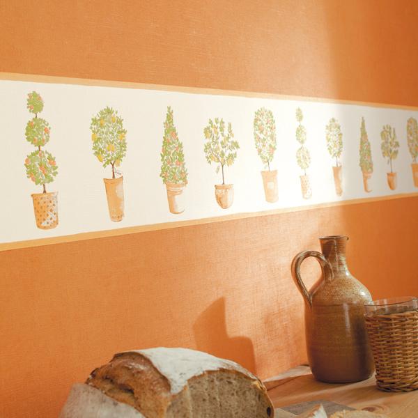 Papel pintado cenefa decorativa para cocina papel pintado barcelona - Papel pared cocina ...
