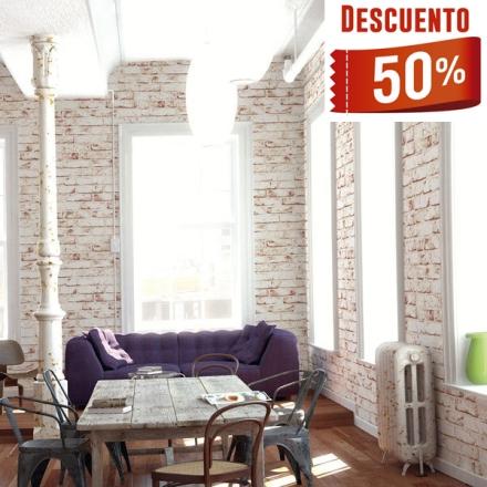 Papel pintado madera ladrillo y piedra en rebajas papel - Papel pared barcelona ...