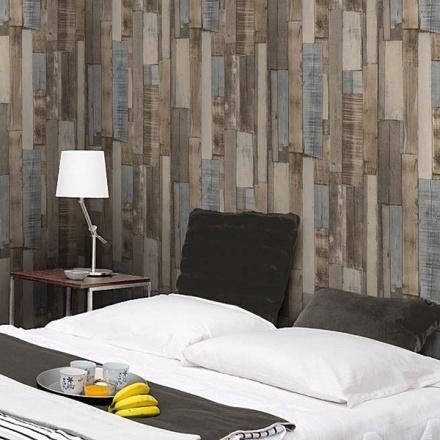 Decoracion de interiores papel pintado barcelona - Papel pintado imitacion madera ...