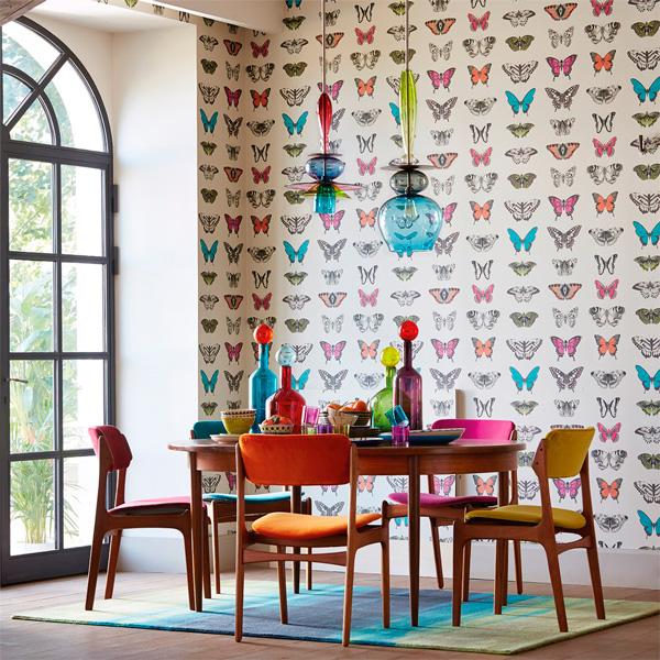 Papel pintado amazilia harlequin papel pintado barcelona for Papel pintado mariposas