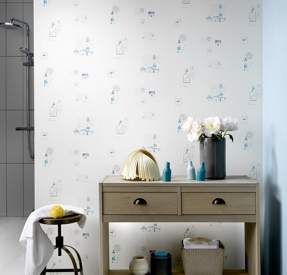 Papel pintado la maison decoraci n cocinas y ba os papel pintado barcelona - Papel pared barcelona ...