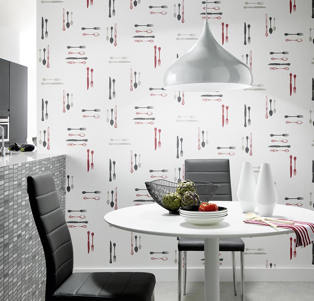 Papel pintado la maison decoraci n cocinas y ba os for Papel pintado vinilico cocina