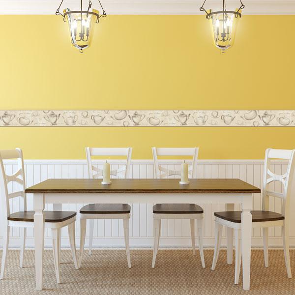 Cenefa cocina moderna papel pintado barcelona - Papel pared barcelona ...