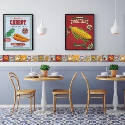 Cenefas para cocinas papel pintado barcelona - Cenefas autoadhesivas cocina ...