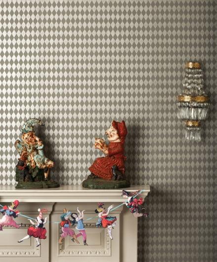 Papel pintado rombos pequeños elegantes Cole&Son
