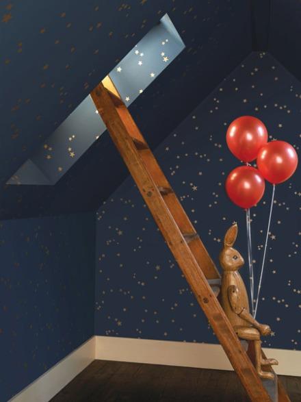Papel pintado estrellas doradas Whimsical
