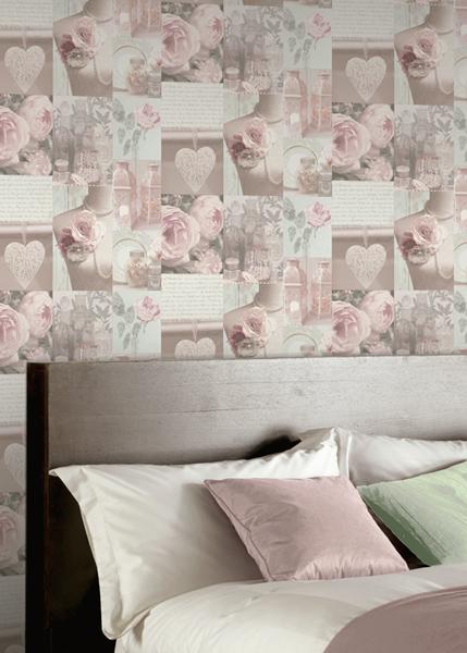Papel pintado decoración romántica 665200