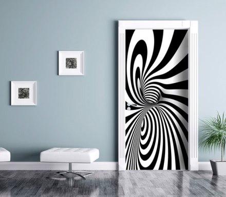Fotomural Puerta abstracto, efectos geométricos FTV-1523