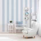 Papel pintado rayas azul y blanco 903